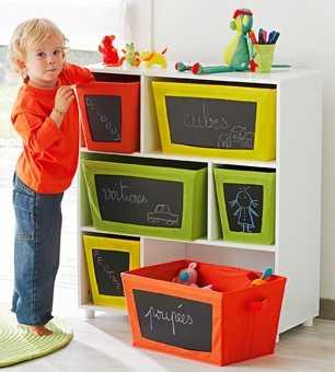 Organizadores para habitaci n de ni o espacio ni os for Mueble guarda juguetes