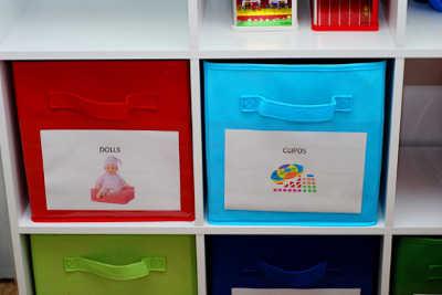 Ideas para organizar los juguetes de los ni os espacio ni os - Cajas para organizar juguetes ...