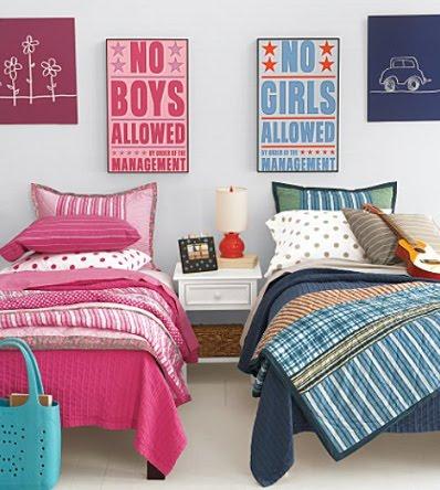 Decoraci n para cuartos de ni os mixto espacio ni os - Dormitorios infantiles mixtos ...