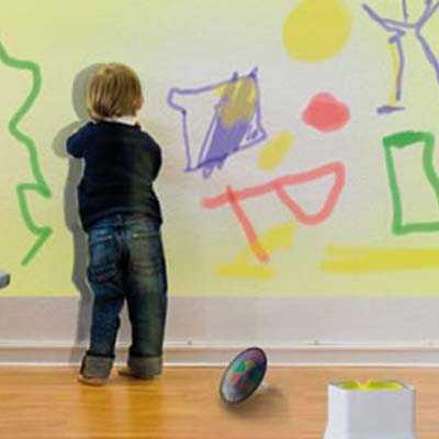 C mo proteger las paredes de los ni os pinturas - Pintura de pizarra para pared ...