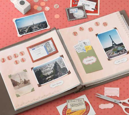 Ideas para el d a del padre ayuda a tu ni o con el scrapbooking espacio ni os - Decorar album de fotos por dentro ...