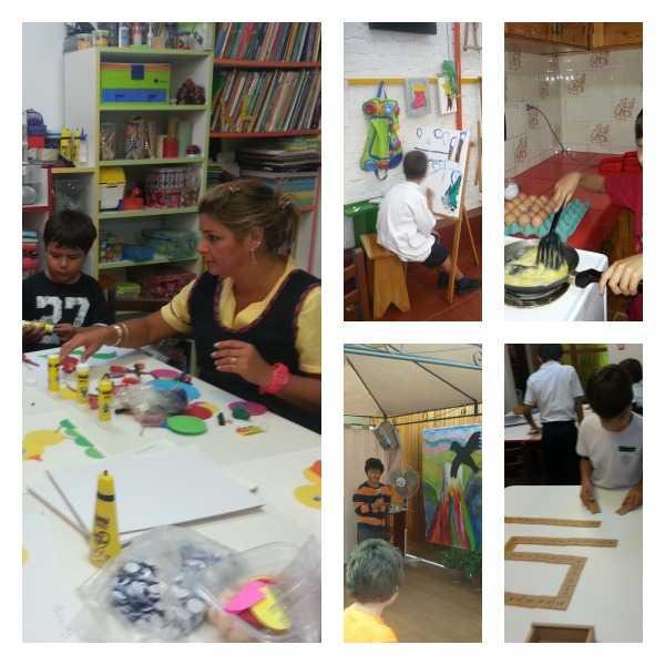 Actividades que cumplen los niños en el centro